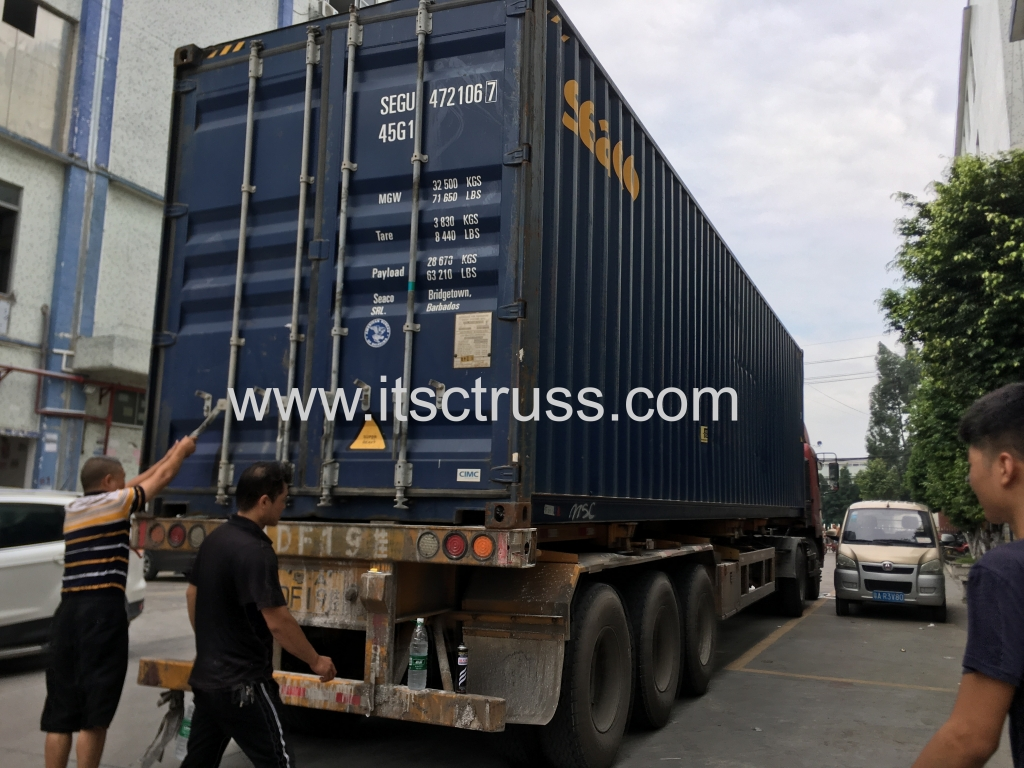 Loading Trusses for Containers to Barbados