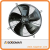 Axial fan 400mm metal steel blades for heat exchanger
