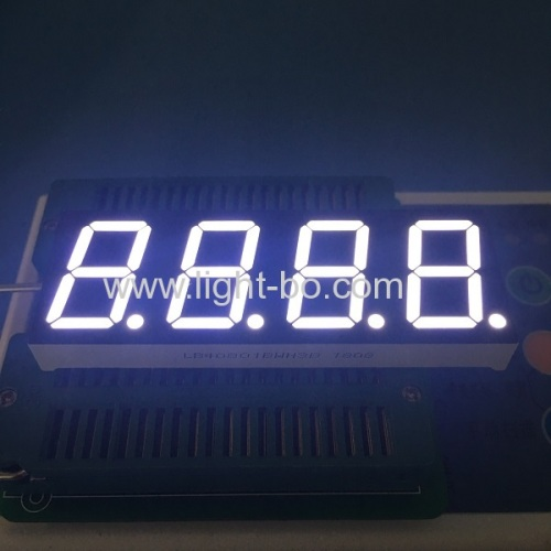 Ultra Bright White 4-digit 0.8-inch(20.4mm) Common Anode 7 segment led display for instrument panel