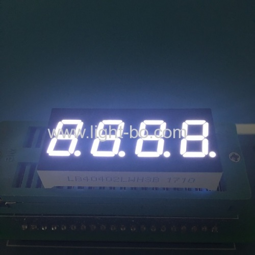 Four Digit 0.4inch ultra white seven segment led display common cathode for temperature indicator