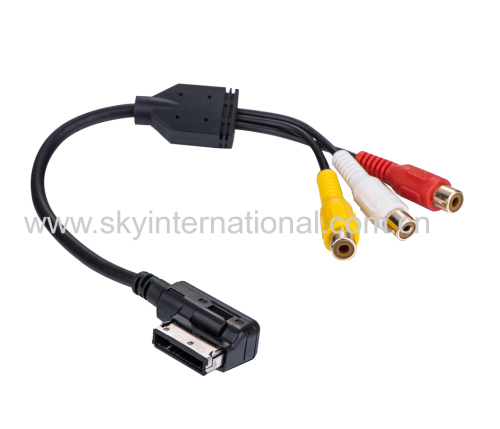 For Audi New AMI MMI 3RCA PHONO Audio Cable 4F0051510AA