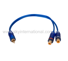 One Male to Two Female Y spliter cable for Car Audio Home Audio