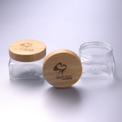 500ml pet jar with bamboo cap