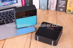 2018 new clock speaker wireless bluetooth with big display support usb tf card fm radio