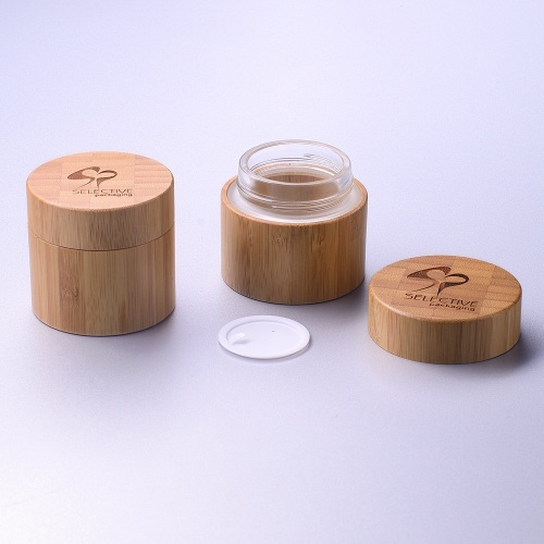 100g bamboo container jar environmentally friendly materials