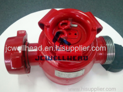 "Plug Valve 1"" with 2"" connections FIG1502 WING TO THREAD"