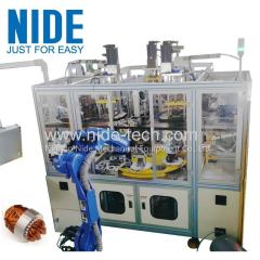 Full automatic 4 stations motor stator coil winding and inserting machine