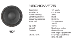 NBC series sub woofer
