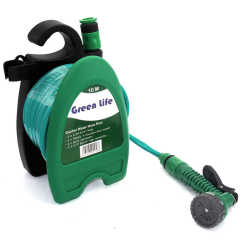 Portable Garden Hose Reel With Water Hose Pipe.