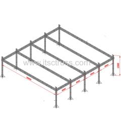 10 Pillars 120x120x40ft Aluminum Truss Flat Roof for Concerts Events