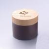 100g white pp jar with bamboo cap cream jar