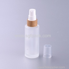 30ml frosted glass bottle with bamboo pump