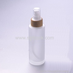 100ml frosted glass bottle with babmoo pump