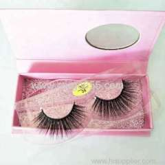 Lighter and Softer human hair private label chemical fiber false 3D synthetic eyelash