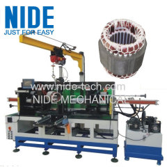 Horizontal stator coil forming machine
