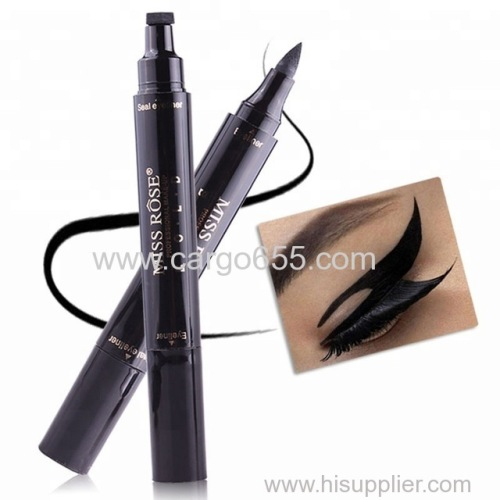 Waterproof Eye Liner Black Color with Stamp Beauty Eye Pencil