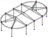Aluminum trusses oval roof for NBA sports in Portugal market