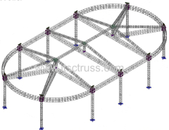 Oval Roof for lighting trusses system