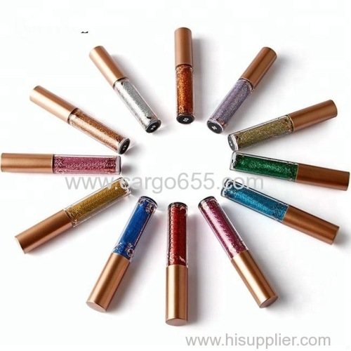 Long-lasting waterproof cosmetic glitter liquid eyeliner