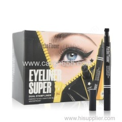Waterproof Dual Stamp 24 HR Liquid Eye Liner 2 in 1
