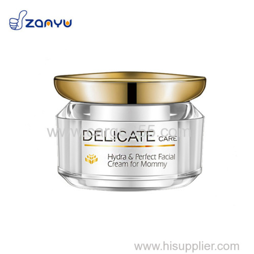 Organic skin care rejuvenating facial cream