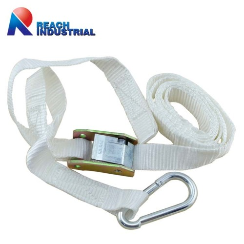 Aluminium Cam Buckle Lashing Strap with Snap Hook