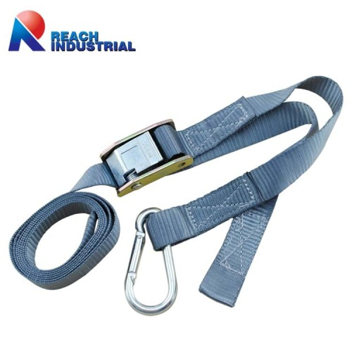 "1"" Cam Buckle Tie Down Ratchet Strap with Snap Hook"