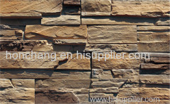 Thin reef rock faux stone veneer