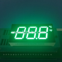 Customized pure green 3 1/2 Digits 7 segment led display common cathode for temperature indicator