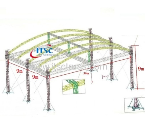 Aluminum truss roof systems arc roof for sale
