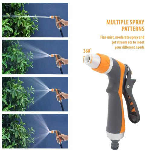 Metal multifunction garden water jet nozzle