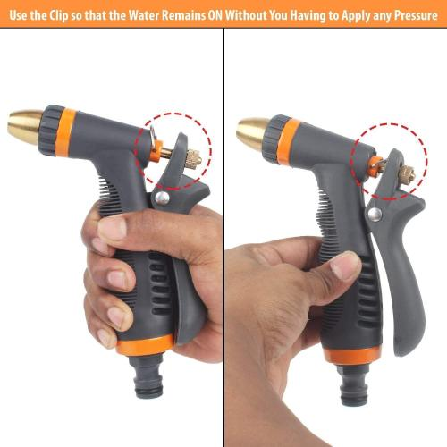 zinc 2-way water spray nozzle with soft hand