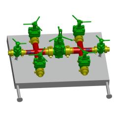 Drilling Fluid Manifold Mud Valve Manifold Drilling Mud Manifold