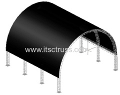 Aluminum lighting trusses Tunnel Roof System