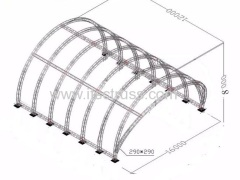 Curved Lighting Trusses Tunnel Roof System