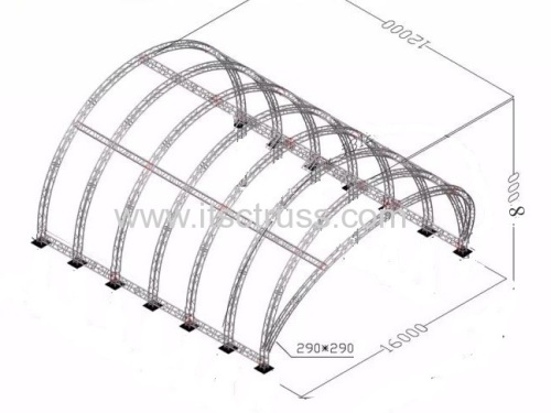 Tunnel Roof Aluminum Trusses for Sale