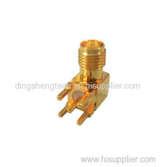 RF Connector SMA R/A Jack PCB Mount