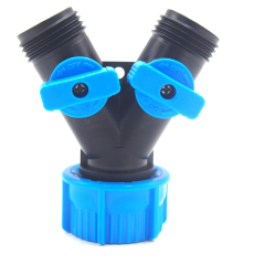 Plastic Water Hose 2-way Splitter For Garden