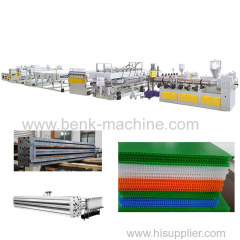 Polycarbonte PC PP Hollow Grid Sheet Extrusion Machine