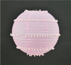Pink Paper Lantern Pendant Lamp D350mm*H350mm