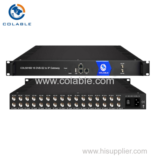 16 FTA tuners DVB-S/S2 (DVB-C/T/T2/ISDB-T/ATSC-T optional)input to ip gateway