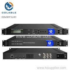 Easy Operation 4k encoder modulator integrating encoding (H.265/HEVC and H.264/AVC)