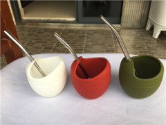 China hot sale Yerba mate gourd/yerba mate cup/Silicone Yerba Mate Gourd With bombilla supplier