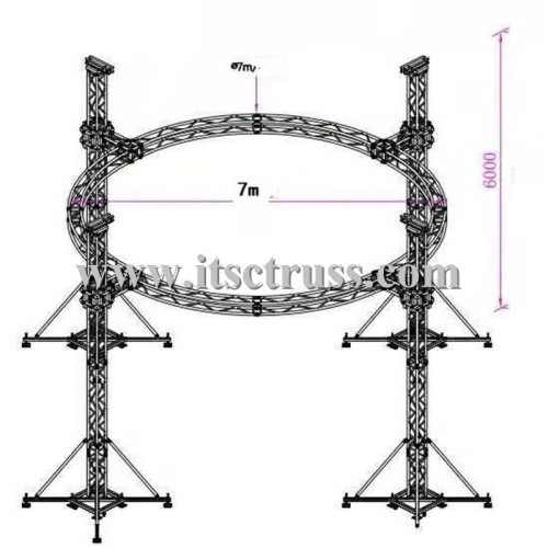 Ground supported cirular trusses system for DJ