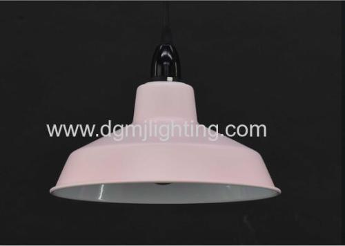 D250mm Metal Shade Pendant Matt Black/Blue/Navy/Cream/Pink