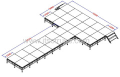 Portable stage platforms systems for catwalk