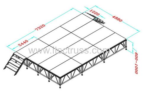 Temporary stage system from Best Chinese supplier