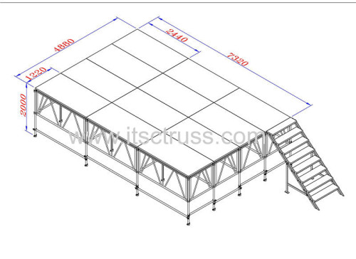 Aluminum Portable stage rental