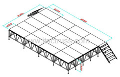 Aluminum stage platform systems