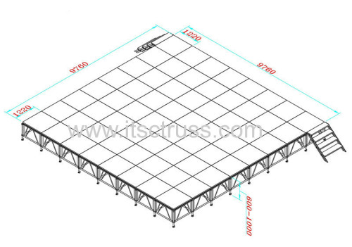Aluminum stage decks systems